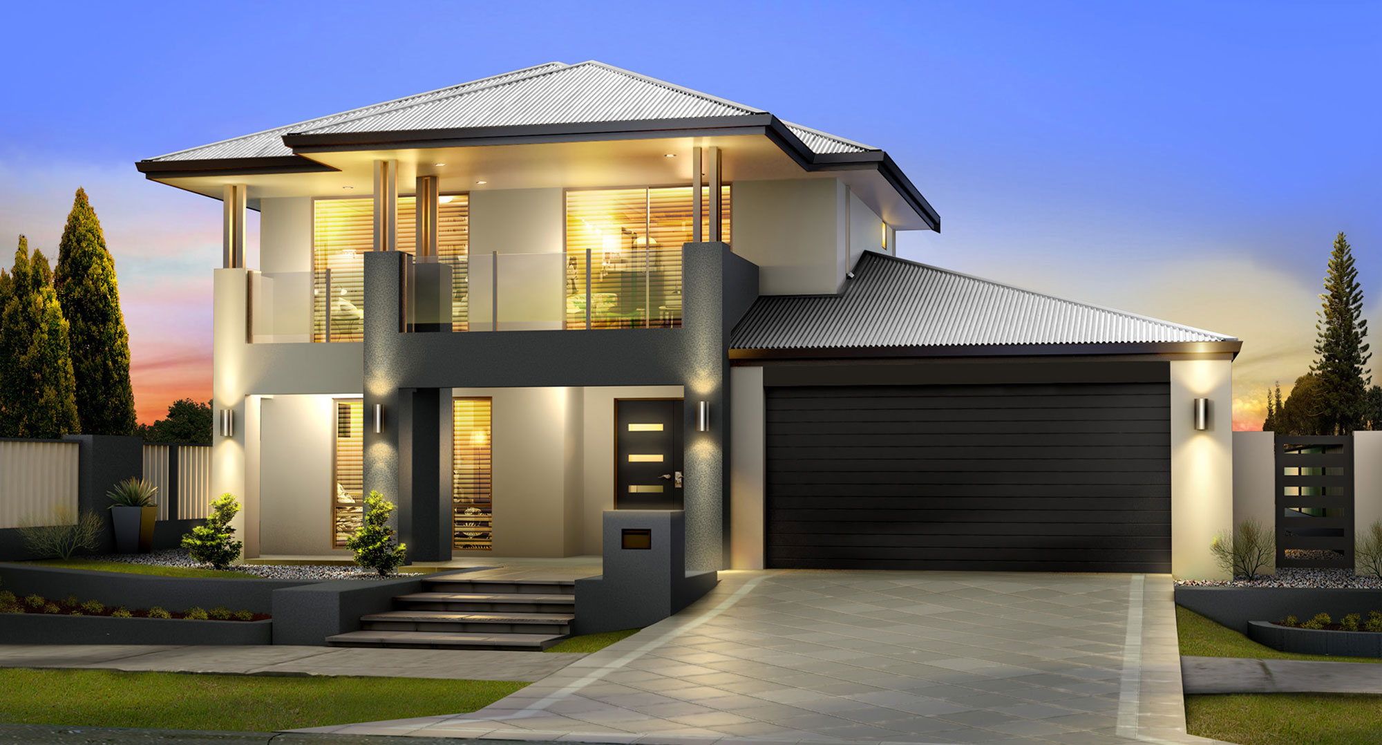 Two storey homes building perth san marco classic diplay for Classic house elevation