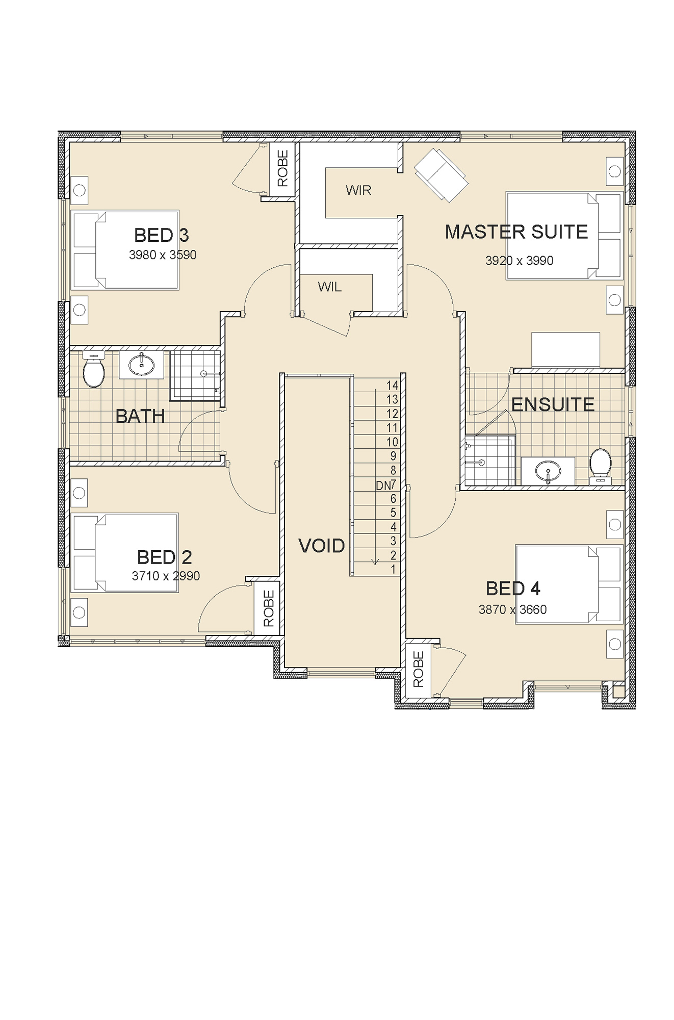 Modern 2 storey home sovereign master upstairs homes perth for House plans master upstairs