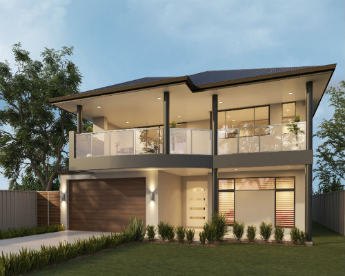 Two storey swanbourne 2 storey homes perth wa for Double storey home designs perth