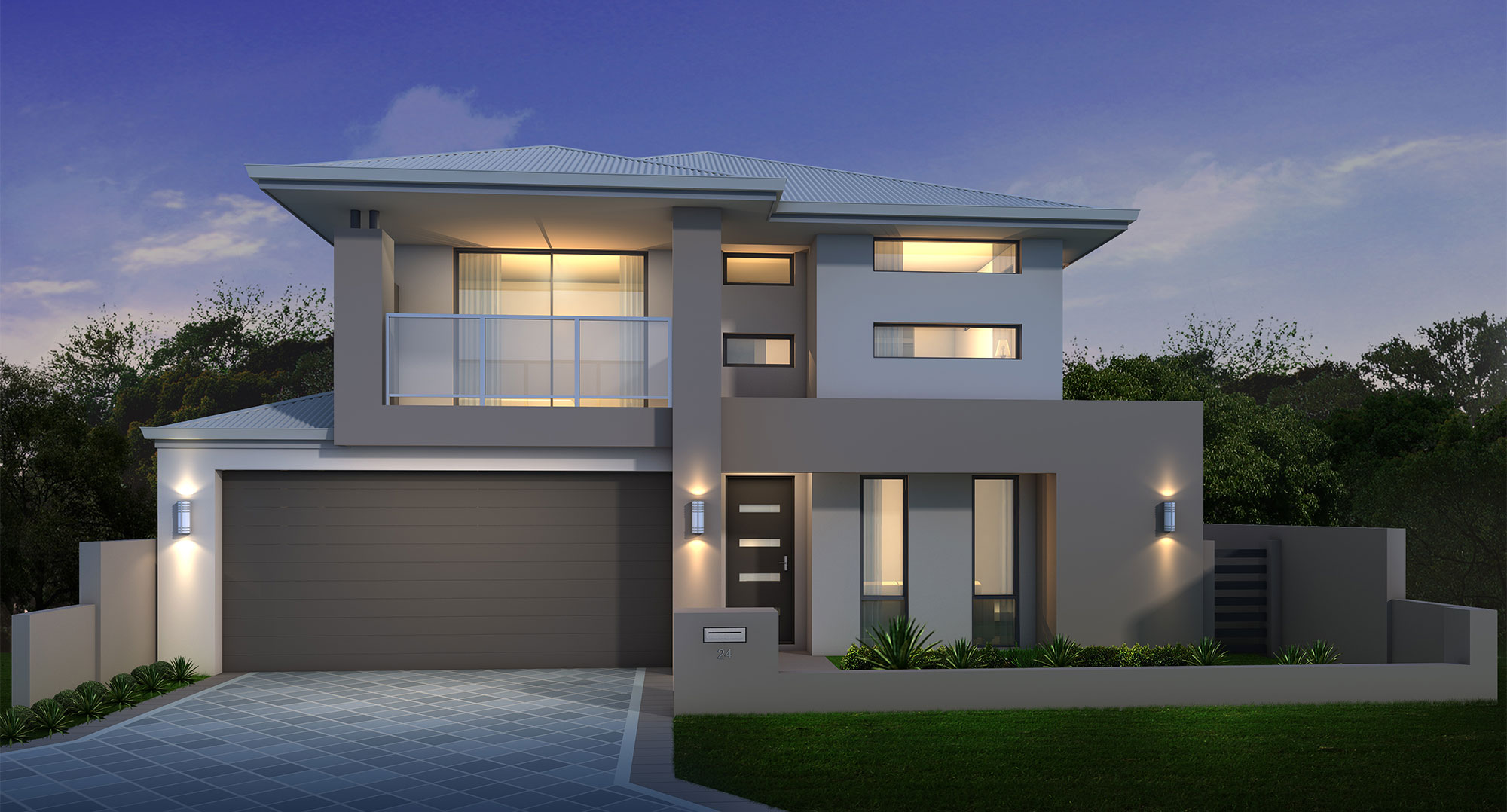 The grange series 6 classic 2 storey homes mandurah for Storey house designs