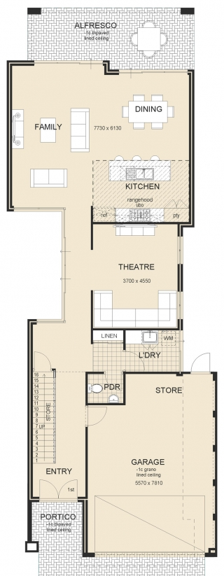 house design - Island-Retreat Plan 2