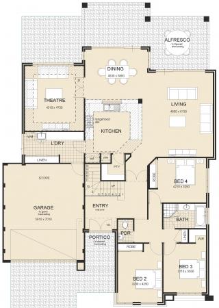 house plan - Livingstone-Executive-Metro-Plan-1