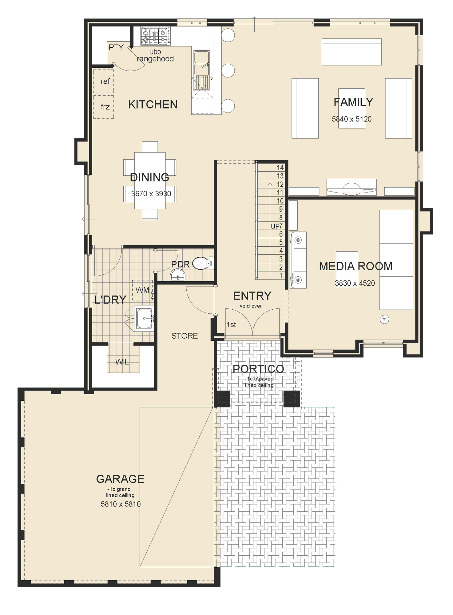Sovereign Master Upstairs house plan
