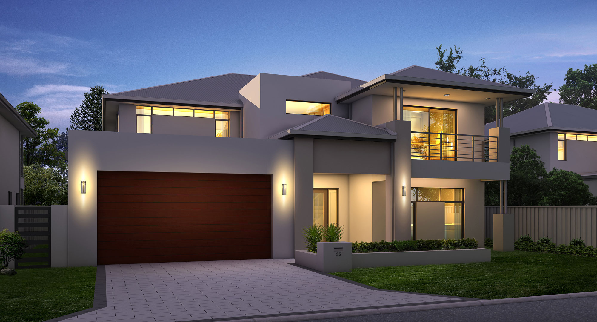 Waterview metro master upstairs living double storey for Great house designs