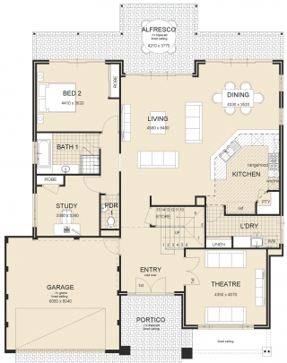 Waterview Metro Master Upstairs House Plan 1
