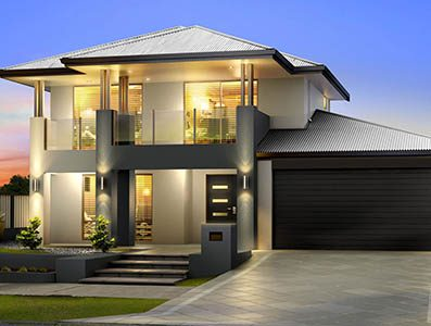 Two storey home builders perth house plans designs for Double storey beach house designs