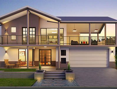 two storey house design Panorama-Provincial