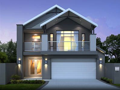 Island-Retreat-2000 - two storey house design perth