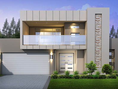 Avalon Modern 2000 two storey house design