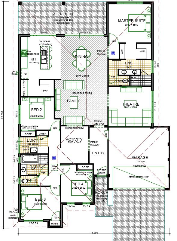 Accolade house plan design sample