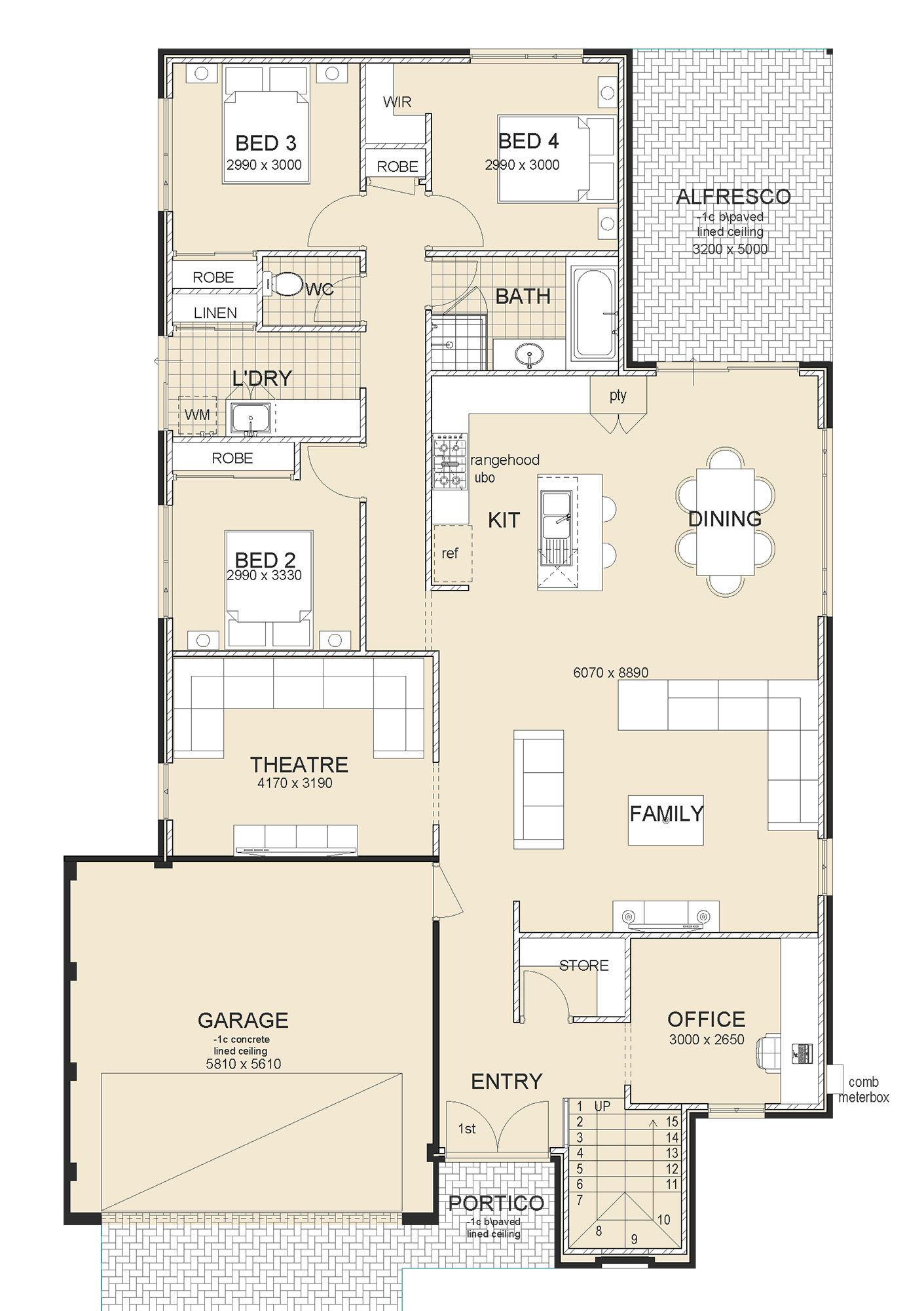 Avalon Executive house plan sample