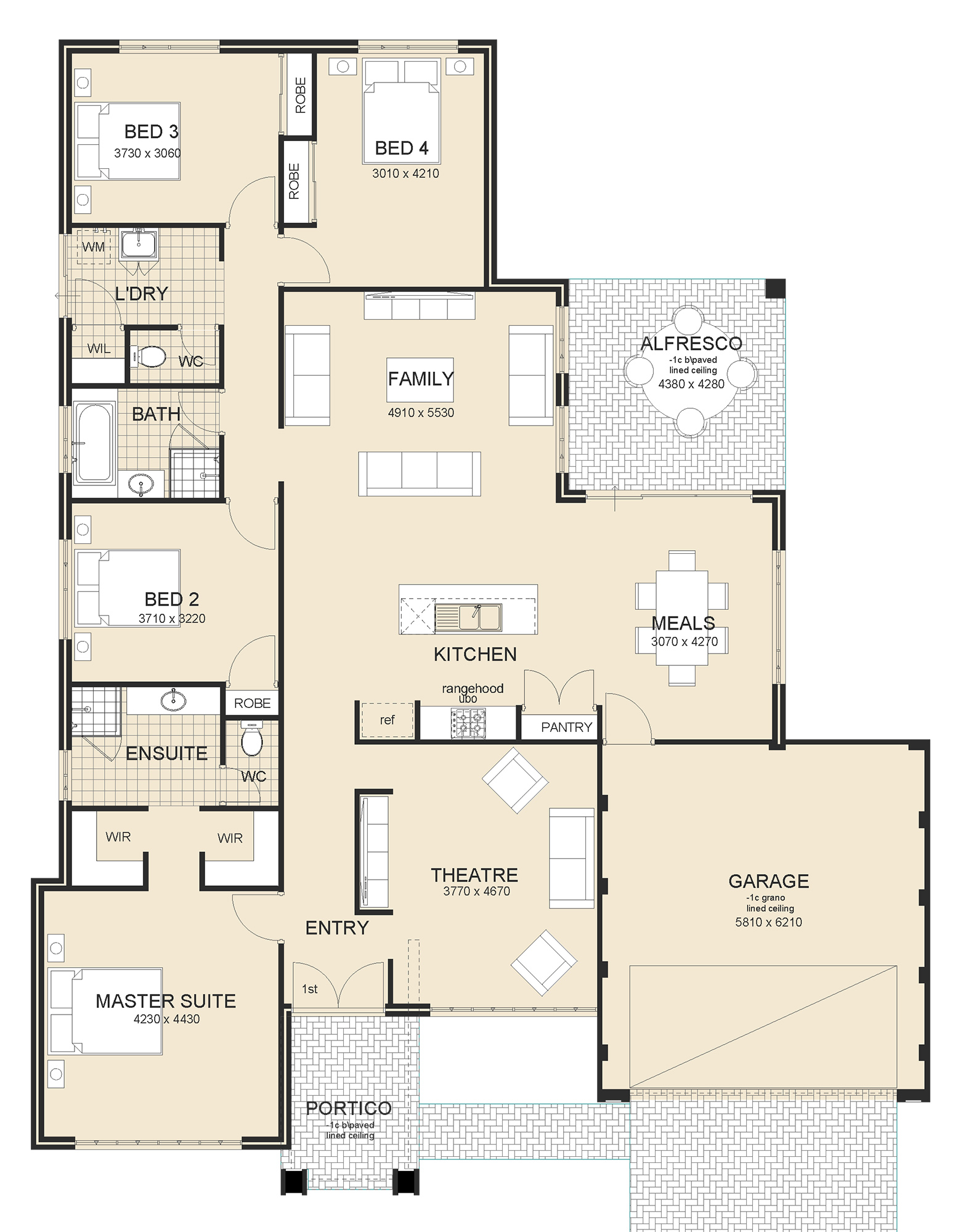 Maddison house plan design perth
