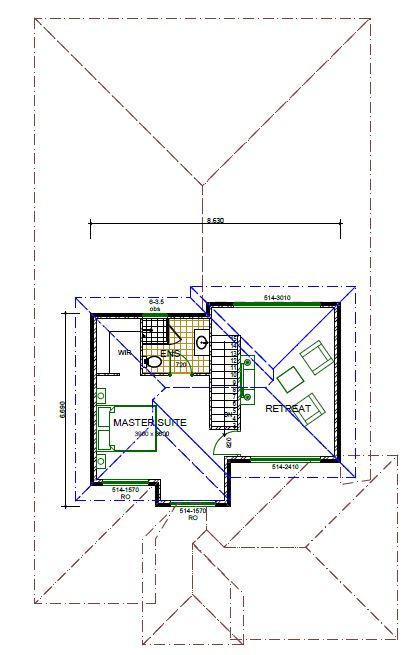 upper floor house plan